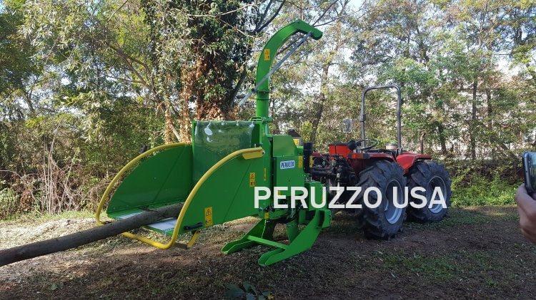 Peruzzo 3-Pt PTO Hydraulic Roller Feed Wood Chipper W/Speed